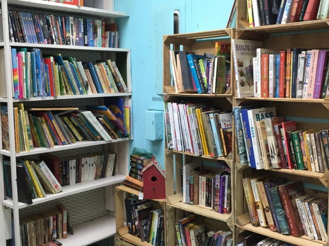 Save money by buying books at a flea market